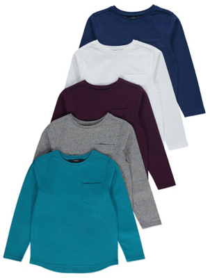 Turquoise Long Sleeve Tops 5 Pack