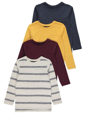 Long Sleeved Pocket Top 4 Pack