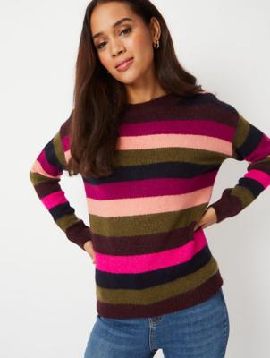 Purple Shimmering Stripe Jumper