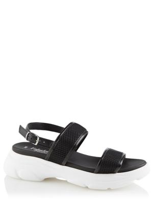 Black Sporty Flatform Trekking Sandal