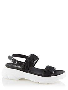 ba1418fefa Black Sporty Flatform Trekking Sandal