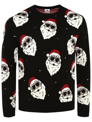 Santa Clause Patterned Christmas Jumper