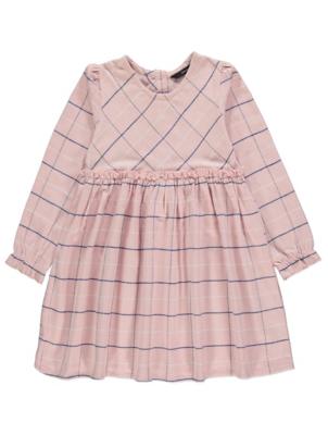 Pink Check Jersey Dress