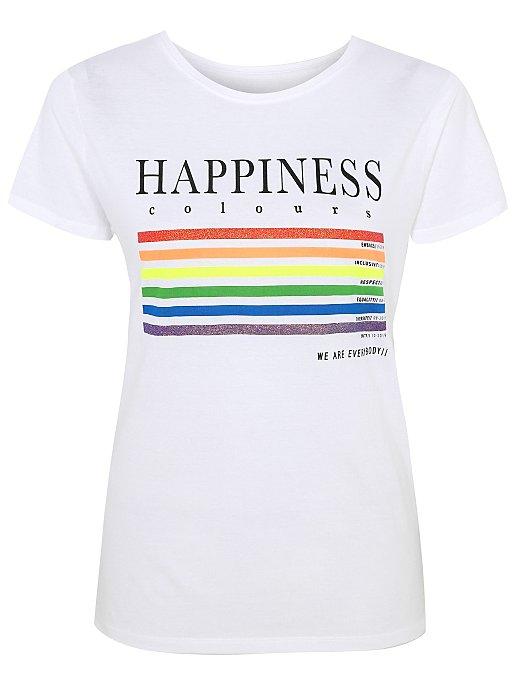Women//Fashion Print Women White Tshirt Love what you do slogan Brand New