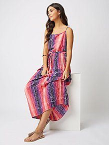 a076092f2 Pink Animal Print Pleated Maxi Dress