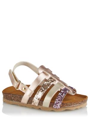 Rose Gold Moulded Footbed Fisherman Sandals