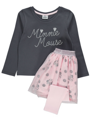 Disney Minnie Mouse Pink Top and Tutu Leggings Outfit