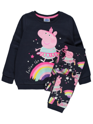 Peppa Pig Navy Sweatshirt and Joggers Outfit
