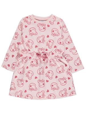 Peppa Pig Pink Glitter Print Sweatshirt Dress