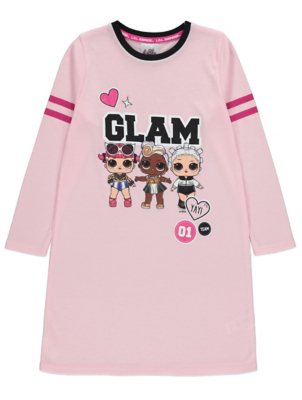 LOL Surprise! Pink Long Sleeve Glam Nightdress