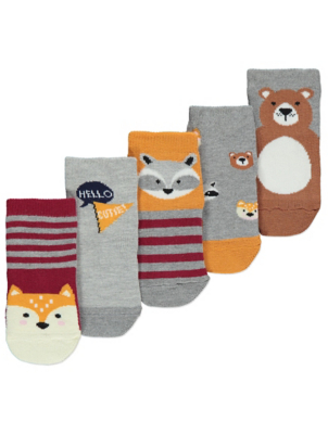 Animal Print Socks 5 Pack