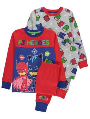PJ Masks Printed Long Sleeve Pyjamas 2 Pack