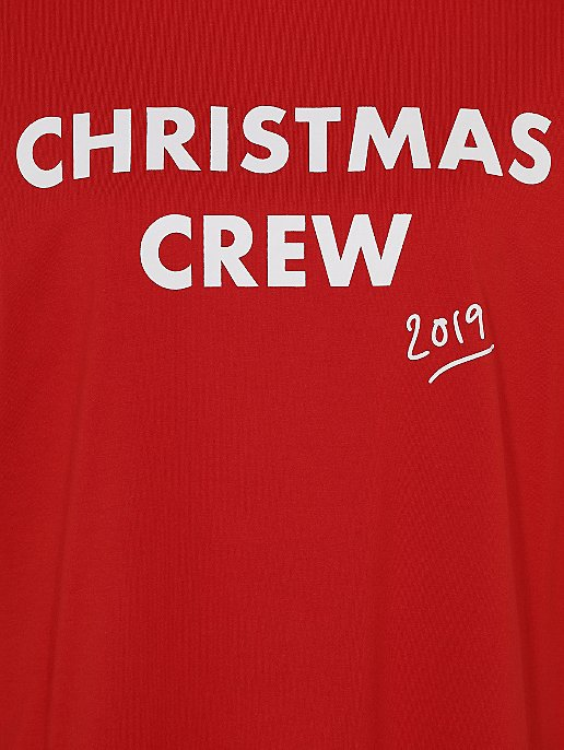 Christmas Red.Red Family Christmas Crew Slogan Pyjamas