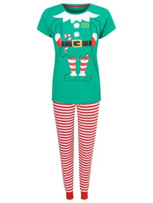 Mummy Elf Family Christmas Pyjamas