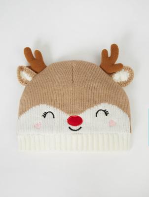 Reindeer Antlers Beanie Hat