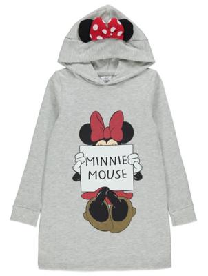 Disney Minnie Mouse Grey Longline Hoodie Mini Me Hoodie