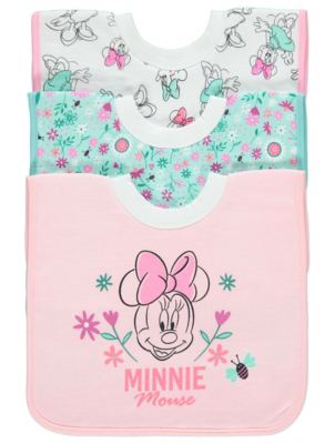 Disney Minnie Mouse Bibs 3 Pack