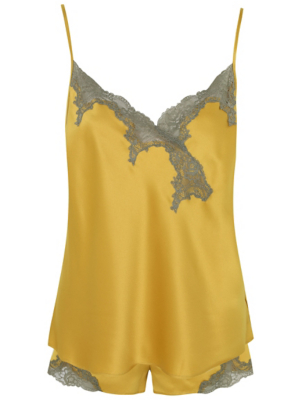 Mustard Yellow Lace Short Pyjamas