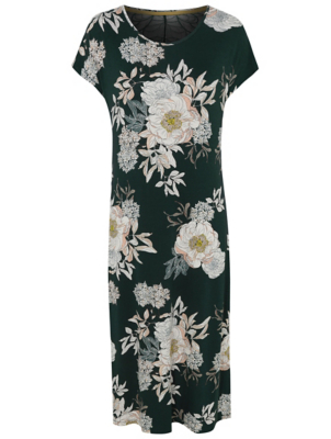 Green Floral Print Soft Touch Nightdress