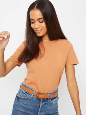 Tan Crew Neck T-Shirt