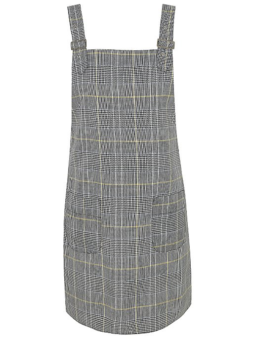 discount shop attractive price where to buy Black Check Pinafore Dress