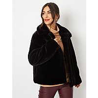 Black Faux Fur Short Jacket by Asda