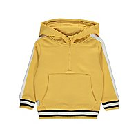 Yellow Contrast Stripe Hoodie by Asda