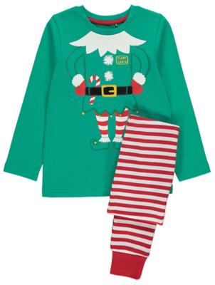 Cheeky Elf Family Christmas Pyjamas