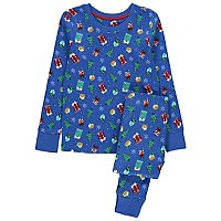 Blue Printed Family Christmas Pyjamas by Asda