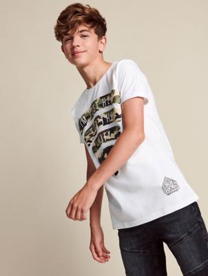 White Wi Fi Slogan T-Shirt