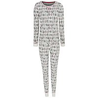 White Christmas Tree Print Pyjamas by Asda