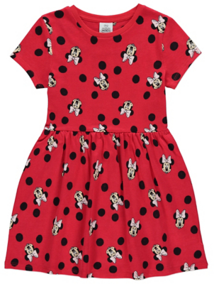 Disney Minnie Mouse Red Polka Dot Dress