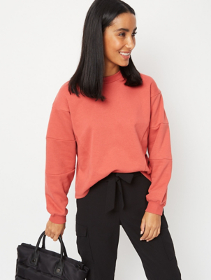 Red Chevron Cropped Sweatshirt