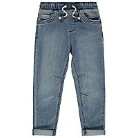 Light Wash Relaxed Fit Jersey Jeans by Asda