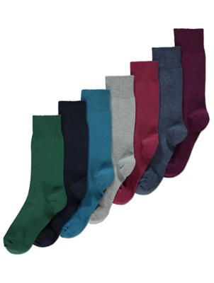 Assorted Colour Feel Fresh Socks 7 Pack