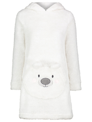 Cream Shimmering Polar Bear Nightdress