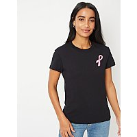 Tickled Pink Embroidered Slogan T Shirt by Asda