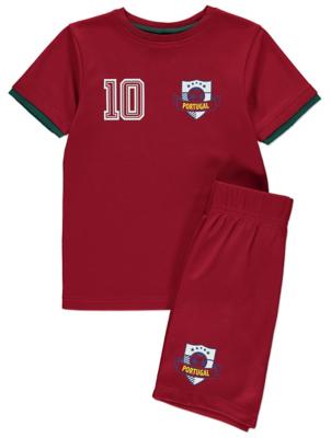 Portugal Football T-Shirt and Shorts Set