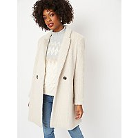 Cream Eyelash Formal Coat by Asda