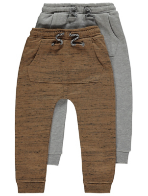 Marl Double Pocket Joggers 2 Pack
