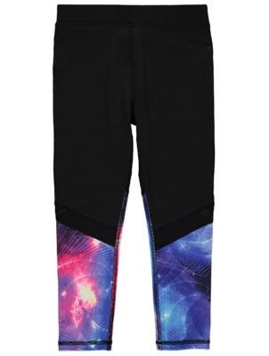 Black Galaxy Print Leggings