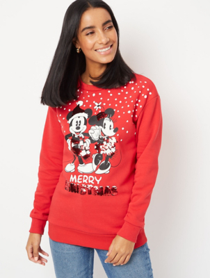Red Mickey and Minnie Mouse Christmas Sweatshirt