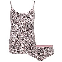 Pink Leopard Print Short Pyjamas by Asda