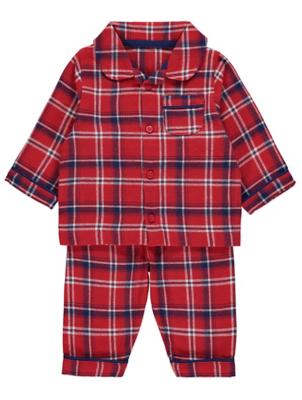Red Woven Check Family Christmas Pyjamas