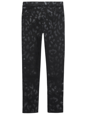 Black Animal Print Shimmering Jeggings