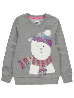 Grey Polar Bear Christmas Sweatshirt
