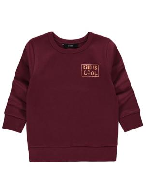 Burgundy Slogan Sweatshirt