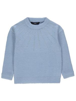 Blue Embellished Knitted Jumper
