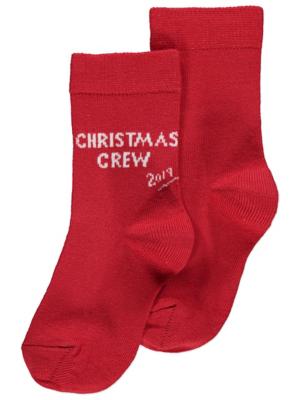 Red Christmas Crew 2019 Socks