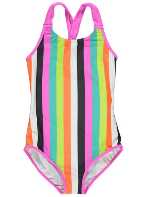 Striped Racer Back Swimsuit